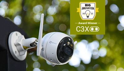 EZVIZ C3X Dual-lens AI Camera Wins 2021 BIG Innovation Award