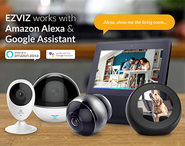 EZVIZ Home Security Cameras Add Amazon Alexa Integration