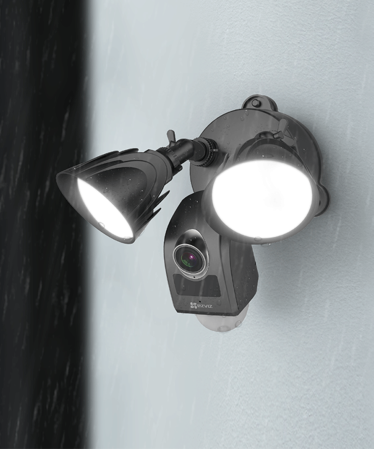 Black Outdoor Floodlight